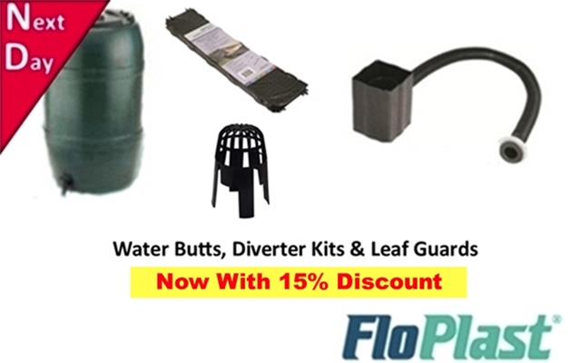 Water Butts, Gutter Brush, Leaf Guards & Drain Covers