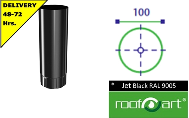 100mm Prelaq Jet Black RAL 9005