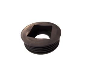 D96 - Universal Rubber Rainwater Adaptor Connect Rainwater Round & Square Pipe to 110mm Drainage