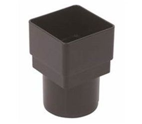 RDS2 -  UPVC 'Cast Iron Style' 65 x 65mm Square to 68mm Round Adaptor