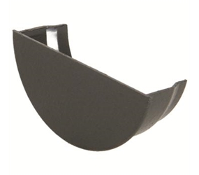 RE2 -  UPVC 'Cast Iron Style' 112mm Half Round Gutter Stop End Internal