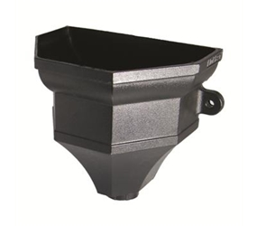 RH4 -  UPVC 'Cast Iron Style' Faceted Hopper c/w Fixing Lugs, Size 305 x 215 x 260mm