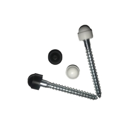 M6COACHSCREW3 - M6 Coach Bolt - 75mm Long - c/w Coloured Cap (For Round Aluminium Sockets & Pipe Clips)